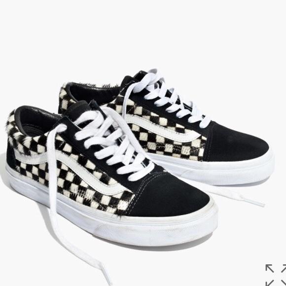 ac25c09d7ca madewell x vans old skool sneakers in calf hair